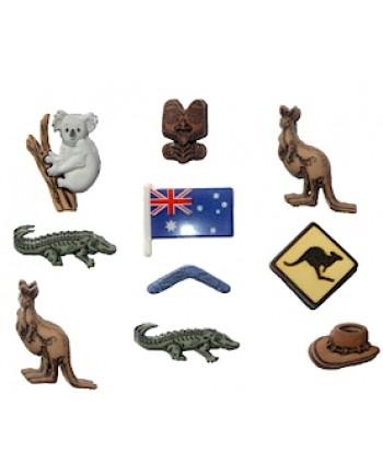 DRESS IT UP BUTTONS - DESTINATION - AUSTRALIA
